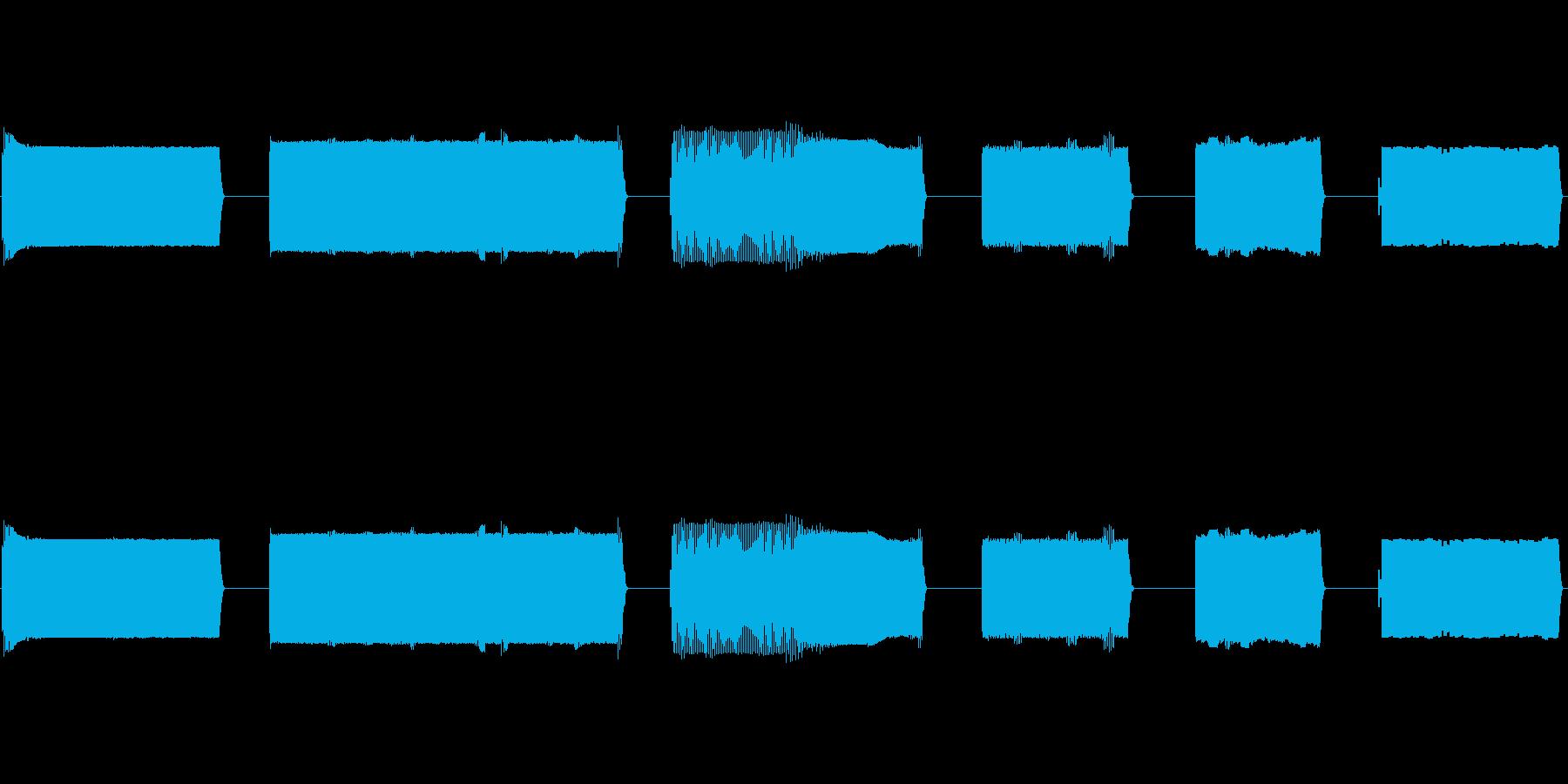 ノイズ、バースト、シグナル、ムービ...の再生済みの波形