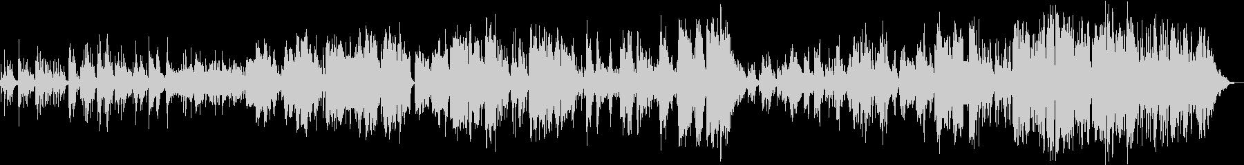 ピアノイントロから始まる切ないバラードの未再生の波形