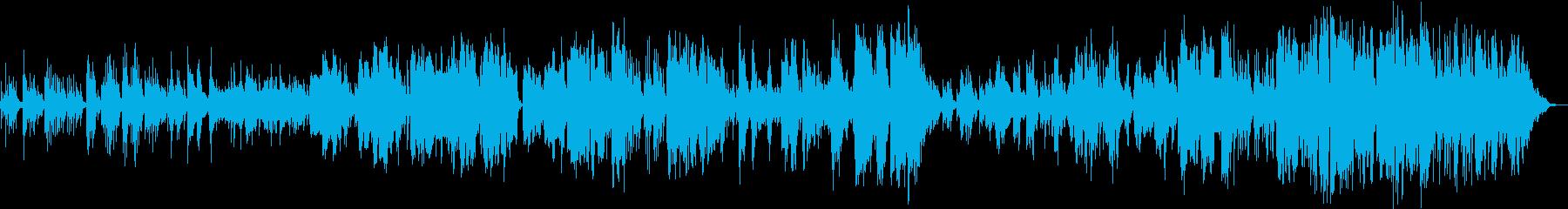 ピアノイントロから始まる切ないバラードの再生済みの波形