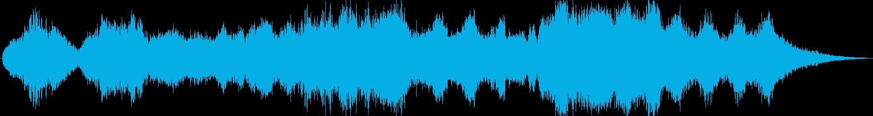 幻想さと気だるさの環境系音楽の再生済みの波形