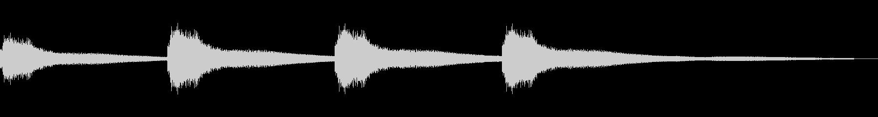 カーンカーンと鐘をつく効果音③の未再生の波形