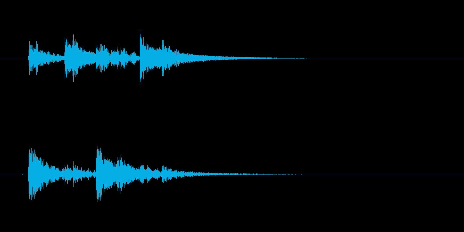 ドラム、トム、タイプB、アクセント...の再生済みの波形
