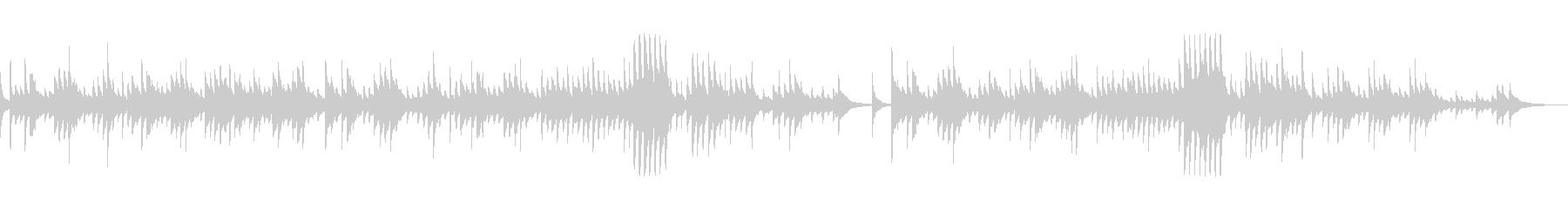 ショパン「別れの曲」和風アレンジ 箏のみの未再生の波形