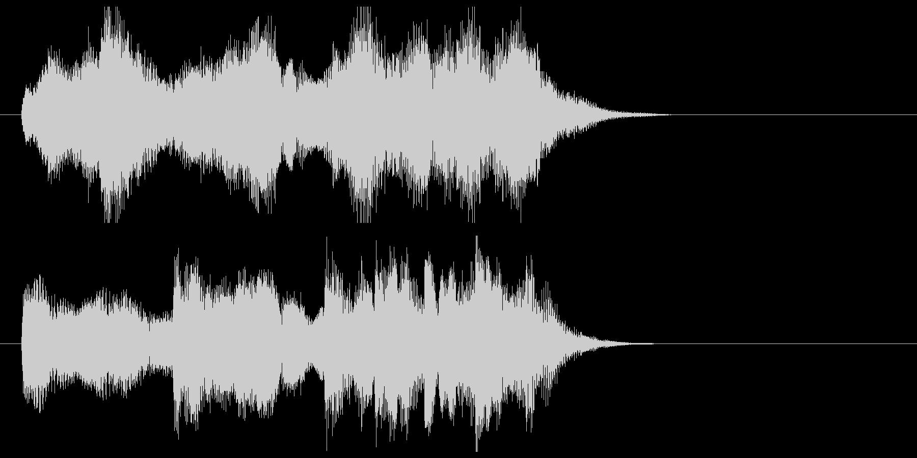 ストリングスワルツのジングルの未再生の波形