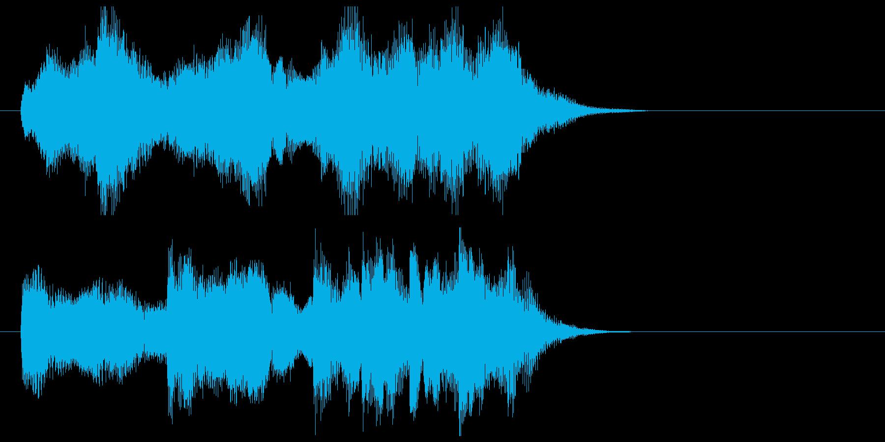 ストリングスワルツのジングルの再生済みの波形