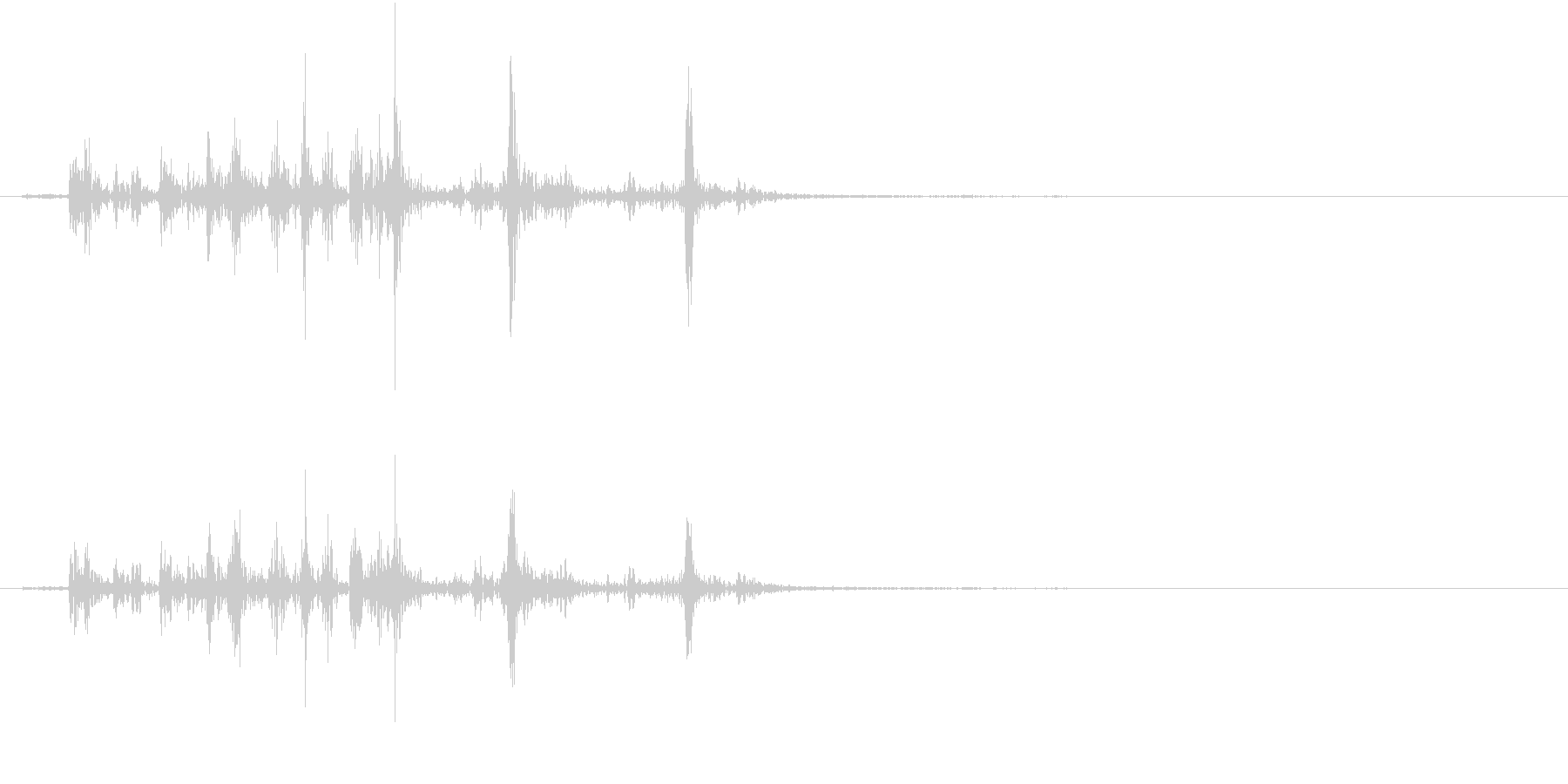 【生録音】カッターナイフの音 16の未再生の波形