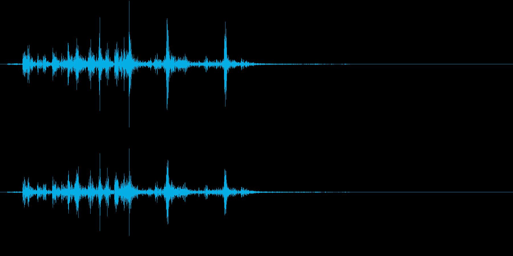 【生録音】カッターナイフの音 16の再生済みの波形