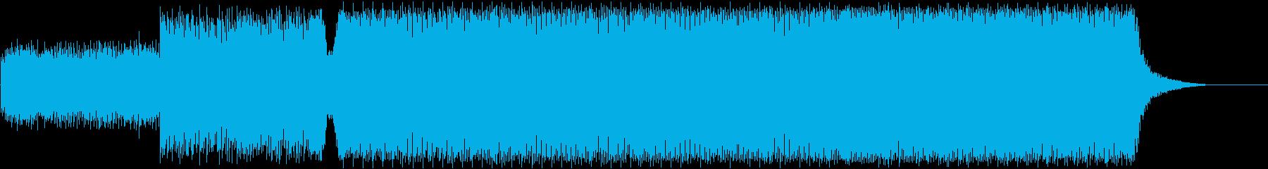 かっこよく疾走感のあるテクノの再生済みの波形