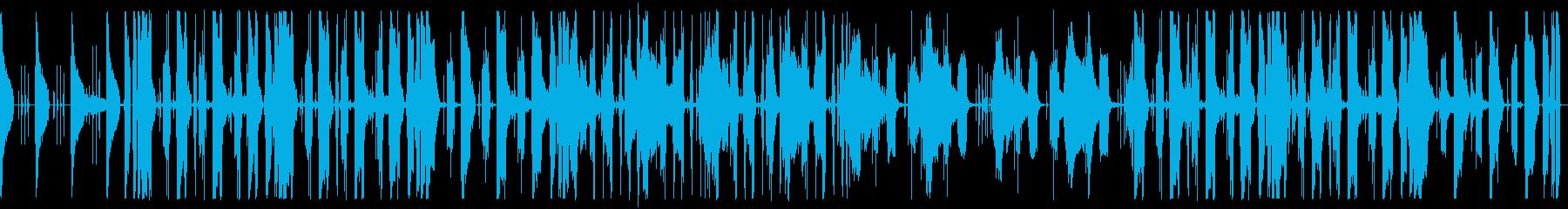 しっとりしたチルホップの再生済みの波形