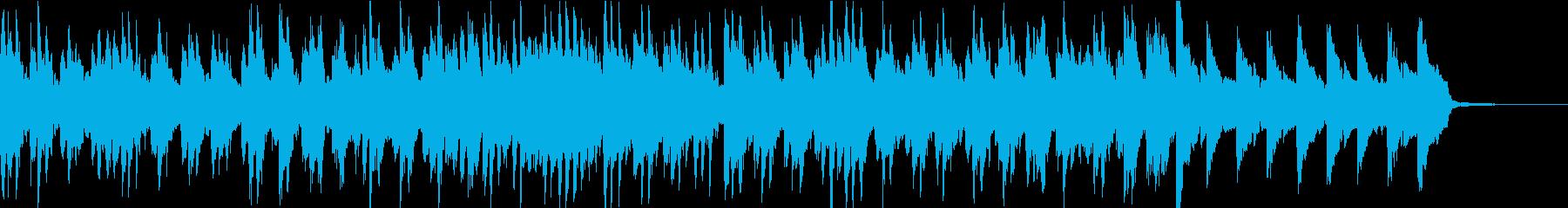 ゆったりしたかわいい日常の曲の再生済みの波形