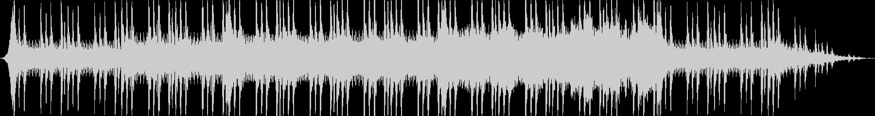 緊迫感のある弦楽曲の未再生の波形