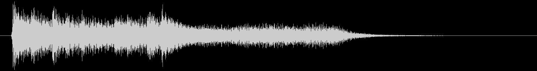 綺麗でオシャレなピアノ(2秒)シャラーンの未再生の波形