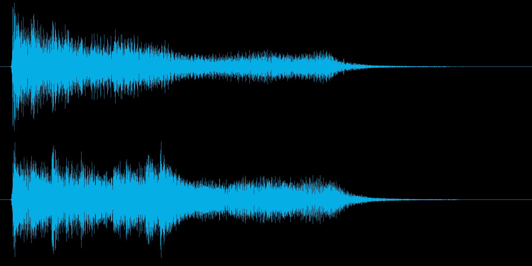 綺麗でオシャレなピアノ(2秒)シャラーンの再生済みの波形