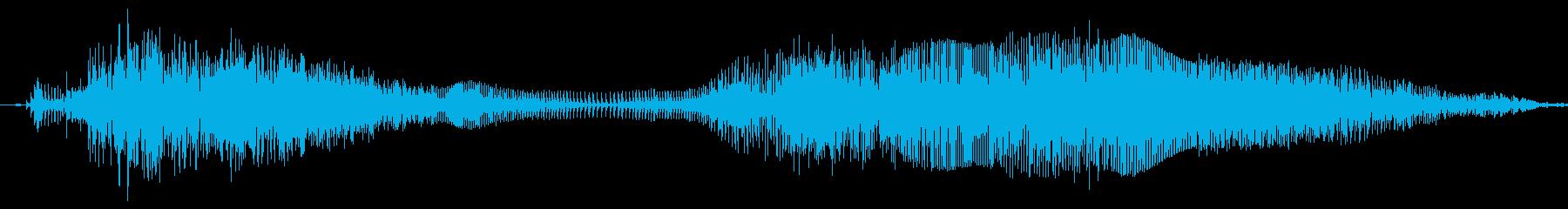 猫怒りの鳴き声の再生済みの波形