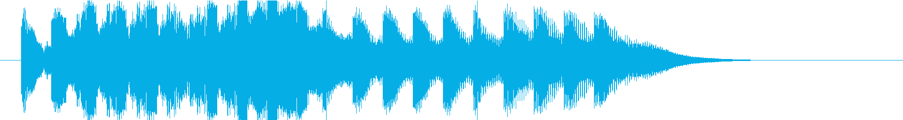 不安になるアラーム(緊急事態)の再生済みの波形