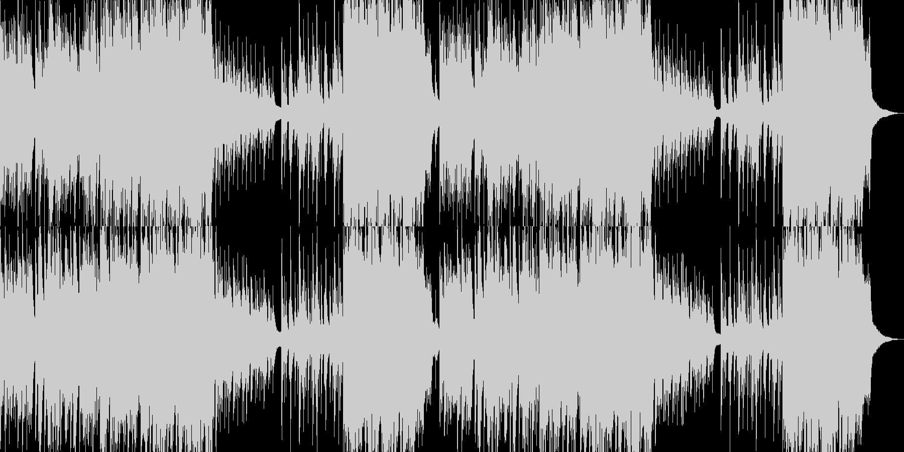 綺麗なピアノとストリングスの未再生の波形