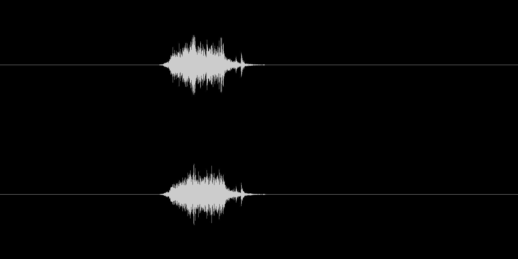 しゃー!!勢いよく閉めるカーテンの音2の未再生の波形