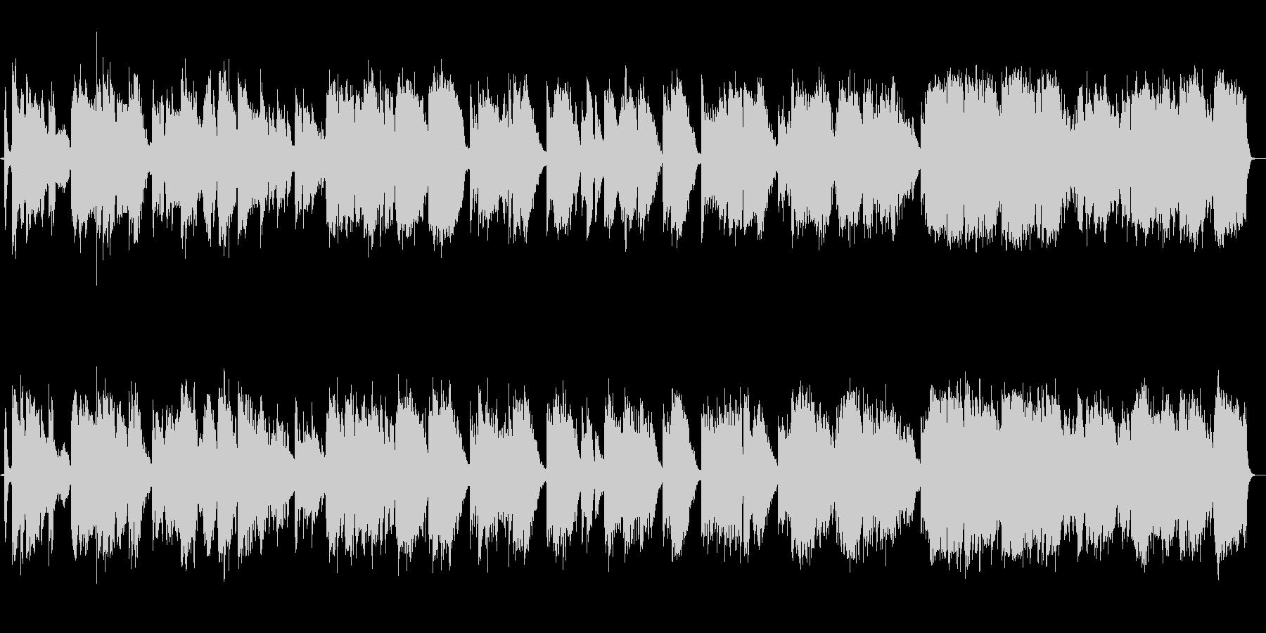 尺八とピアノの荘厳な楽曲の未再生の波形