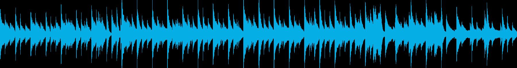 黄昏のまったり雰囲気なジャズワルツピアノの再生済みの波形