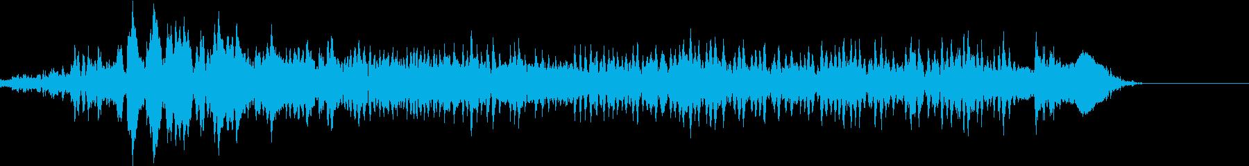 「ううううう」デスボイス(高い声)の再生済みの波形