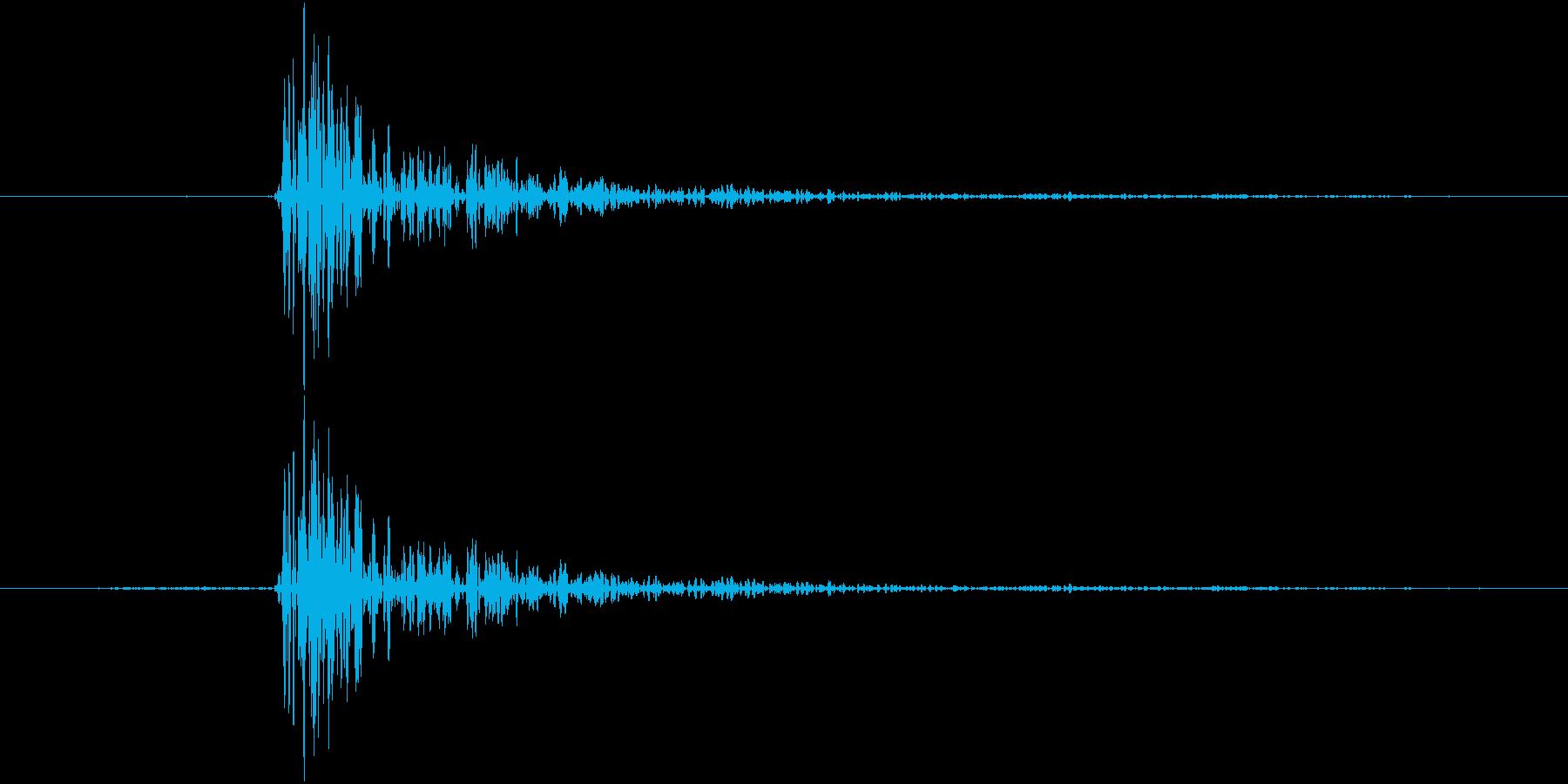 カッ(将棋、囲碁、麻雀、釘を打つ音)の再生済みの波形
