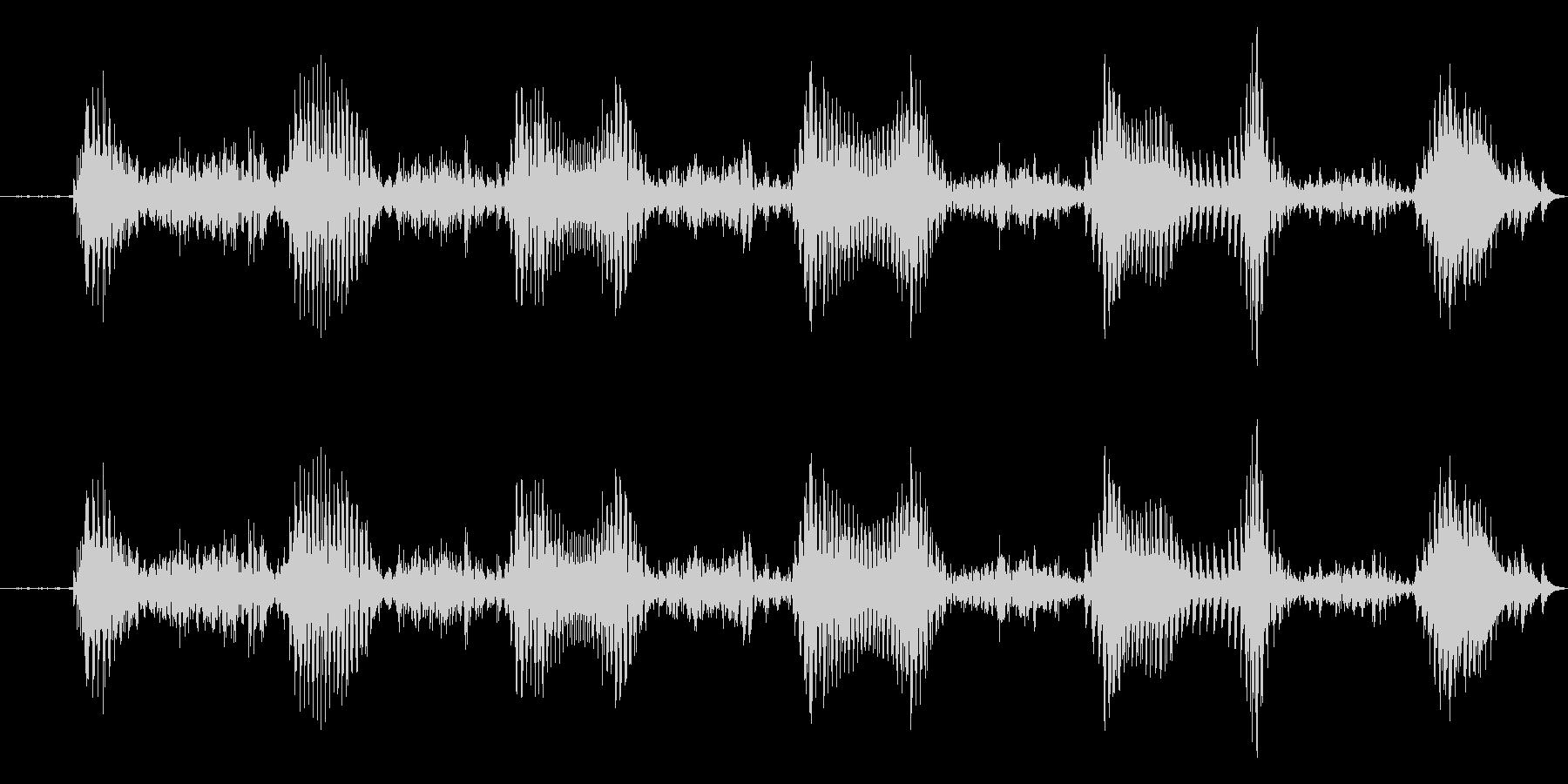 えへへ 幼児(1~2歳)の笑い声の未再生の波形