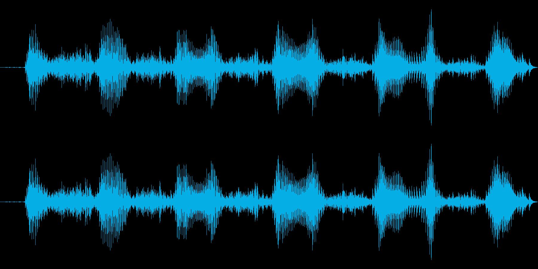 えへへ 幼児(1~2歳)の笑い声の再生済みの波形