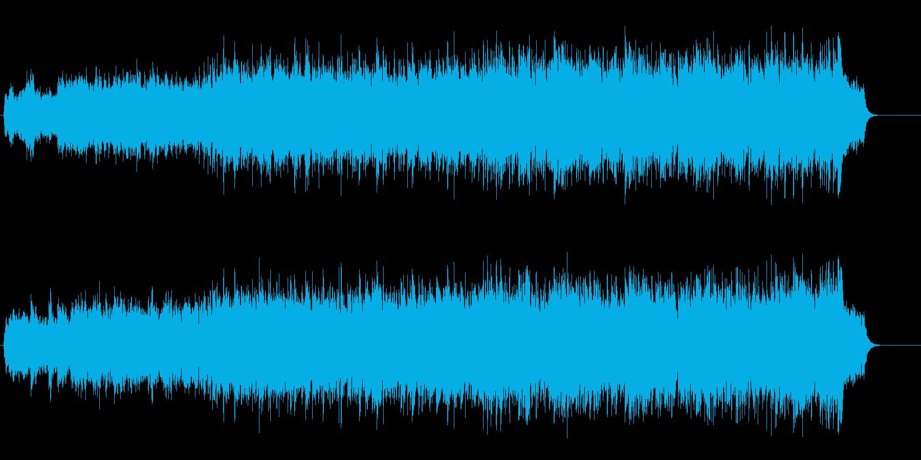 暖かみのあるメモリアル風BGMの再生済みの波形