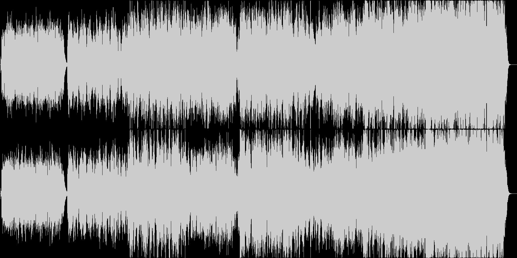 二胡で清らかさを表現した楽曲の未再生の波形