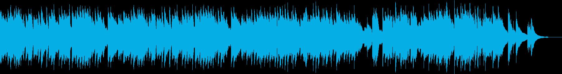 スキップしたくなるような明るいピアノ曲の再生済みの波形