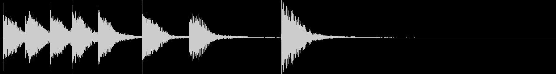 ピアノジングル 幼児向けアニメ系G-01の未再生の波形