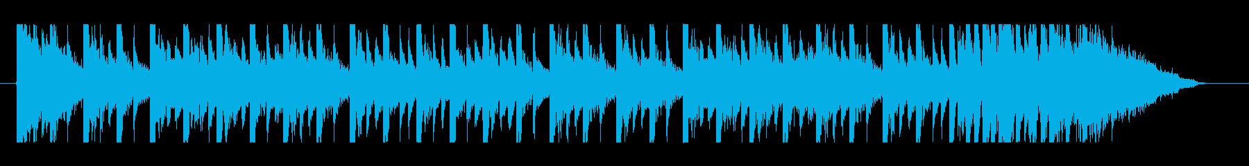 琴が入った軽快な和風ジングルですの再生済みの波形