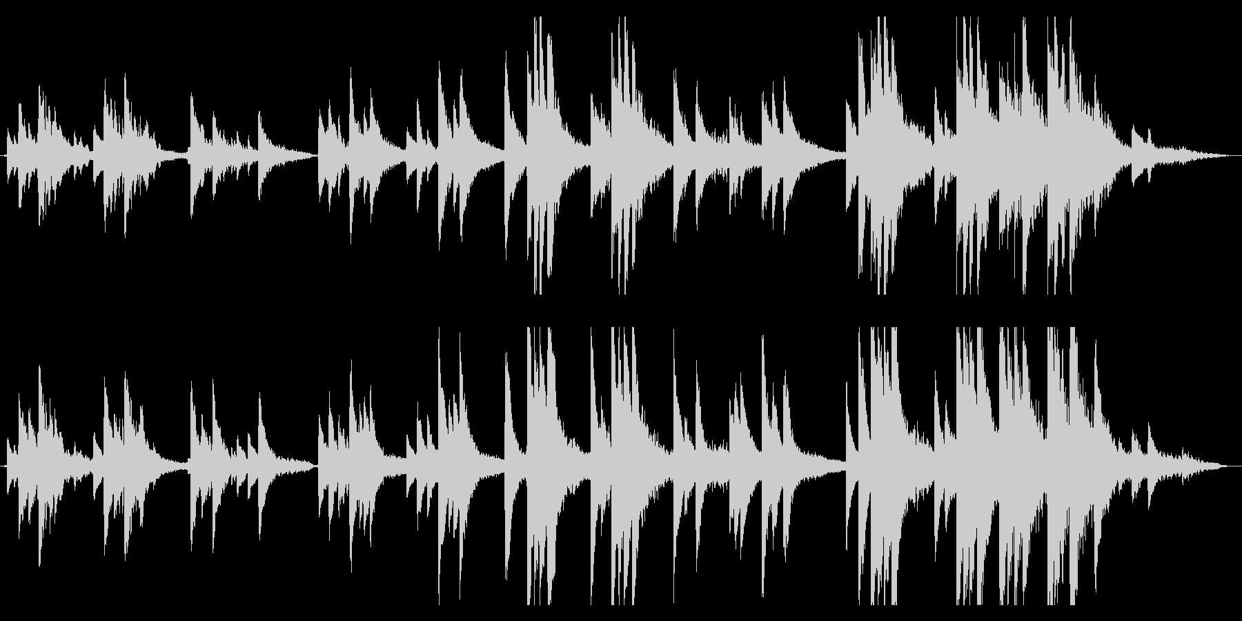 ピアノと琴のアンビエントの未再生の波形