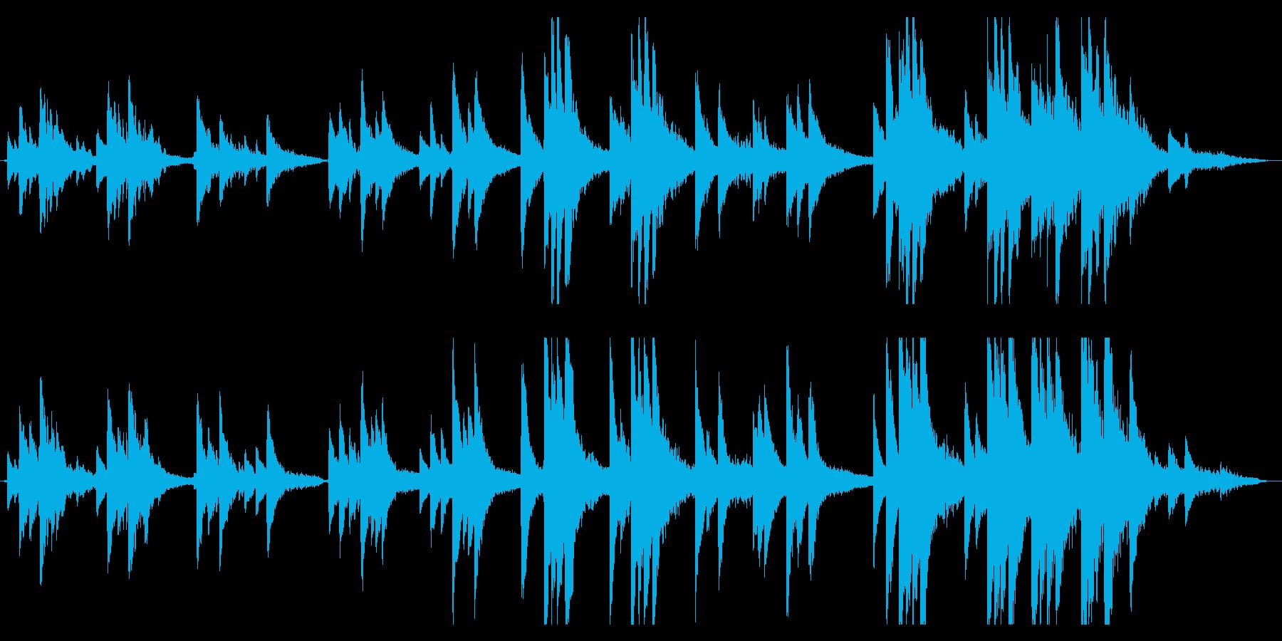 ピアノと琴のアンビエントの再生済みの波形