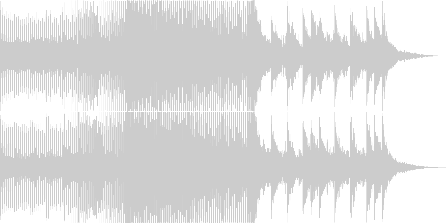 ハッピー・かわいい系㏚映像向けポップスの未再生の波形