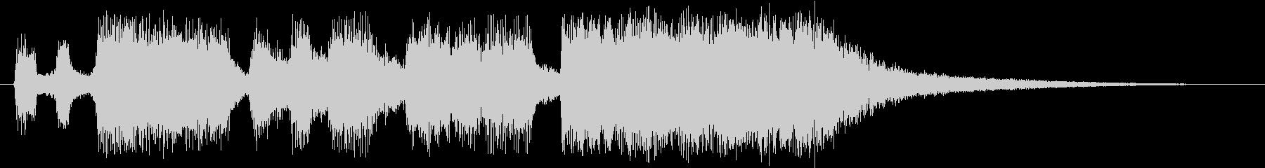 オーケストラサウンドのファンファーレの未再生の波形