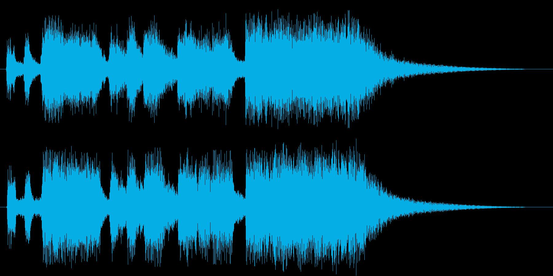 オーケストラサウンドのファンファーレの再生済みの波形