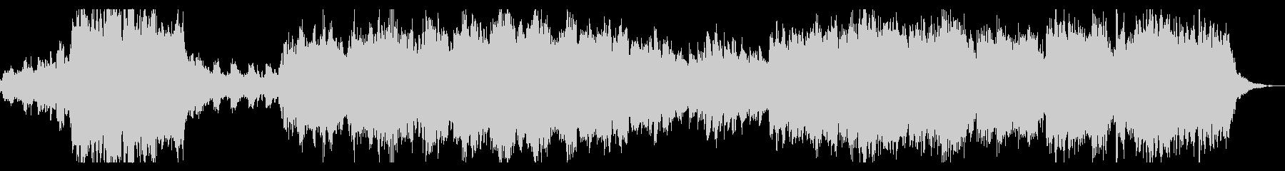 ダークで切ないシネマチックなホラーBGMの未再生の波形