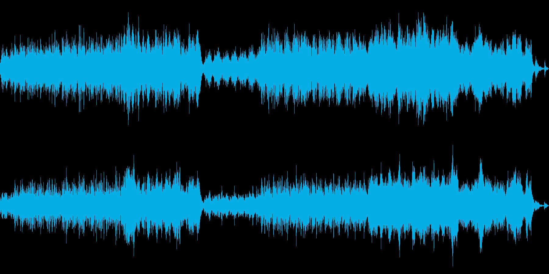 ハープとストリングスの幻想的な曲の再生済みの波形