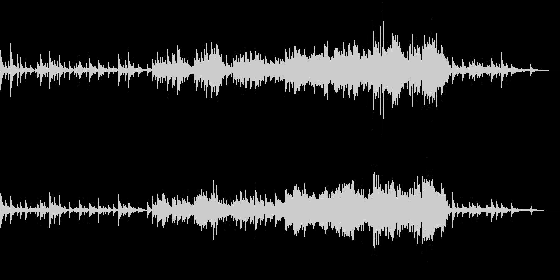 ピアノとストリングスの切ない和風BGMの未再生の波形