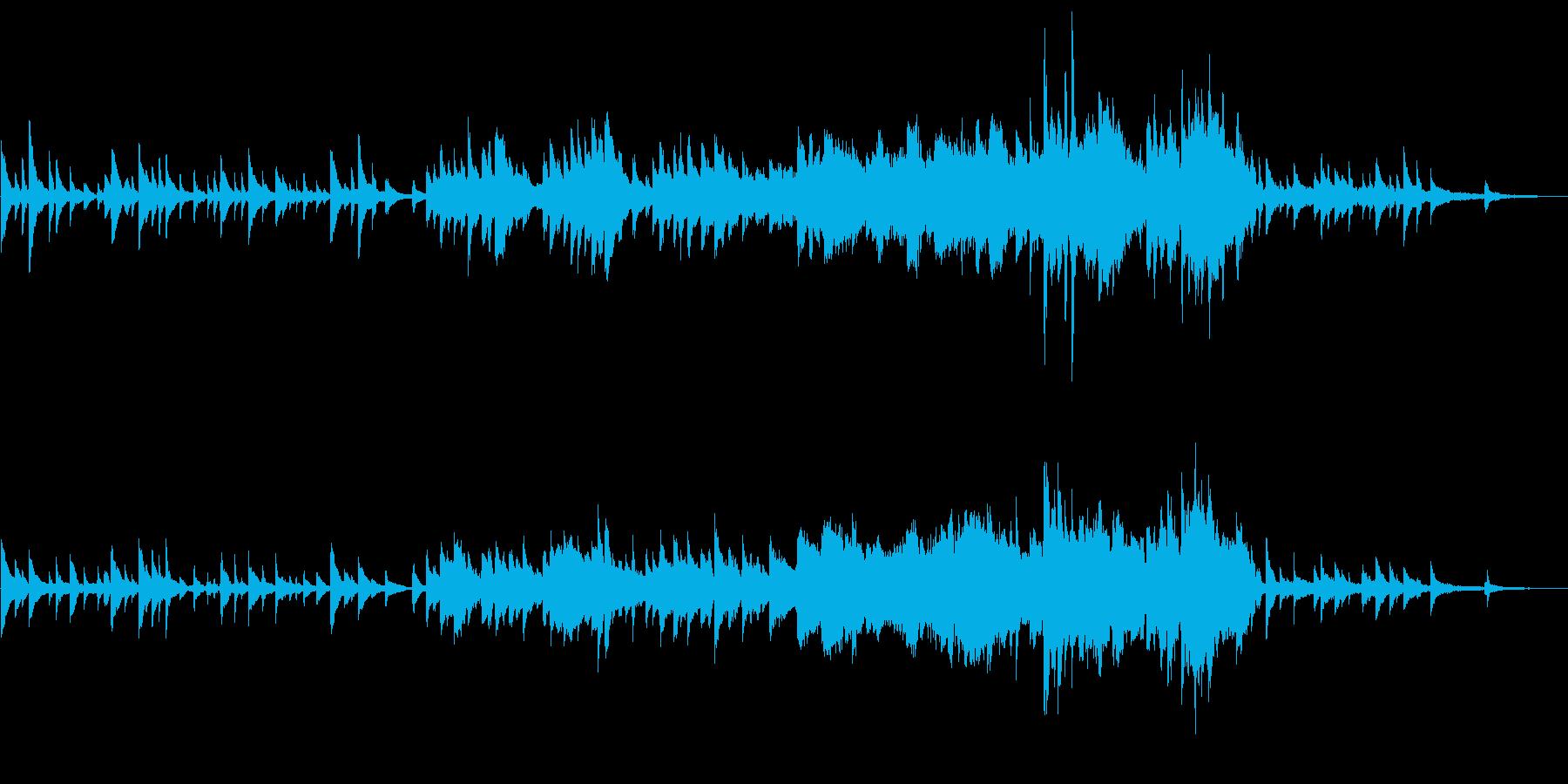 ピアノとストリングスの切ない和風BGMの再生済みの波形