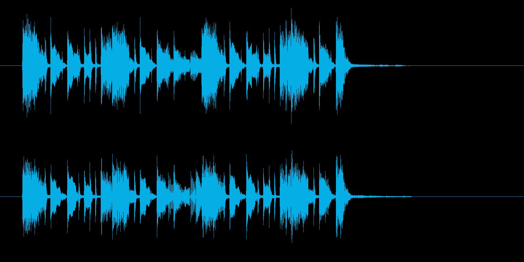 ギターカッティングがファンキーなジングルの再生済みの波形