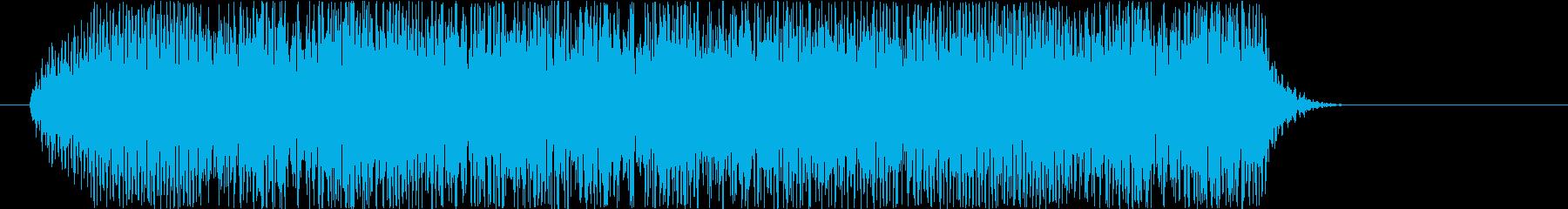 ビギュゥ~ン(電撃魔法音)の再生済みの波形