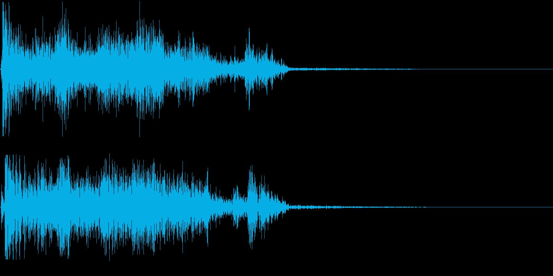 強烈なスワイプの再生済みの波形