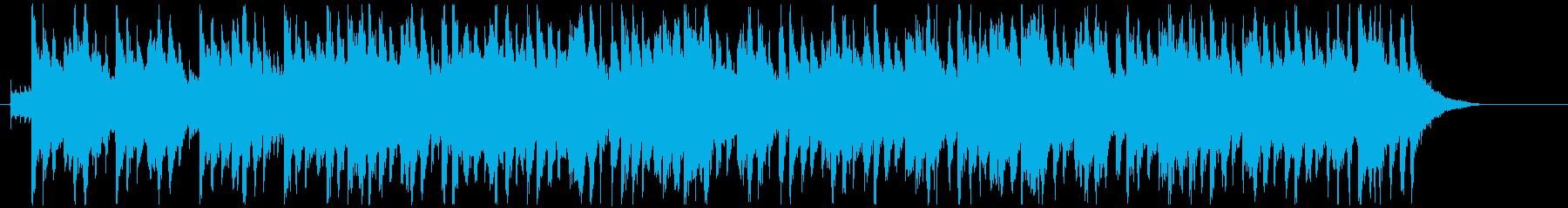 質実剛健なイメージの行進風BGMの再生済みの波形