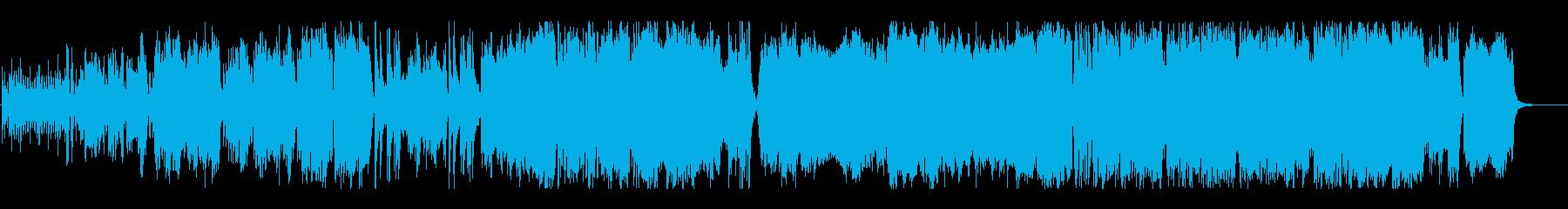 ストリングスが特徴的な街の曲の再生済みの波形
