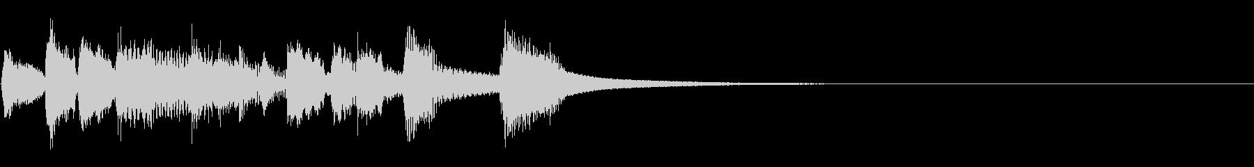 ファンキーに締めくくるジングルの未再生の波形