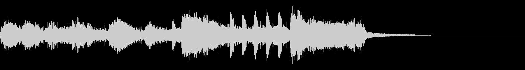 金管楽器類による 悪役登場の未再生の波形