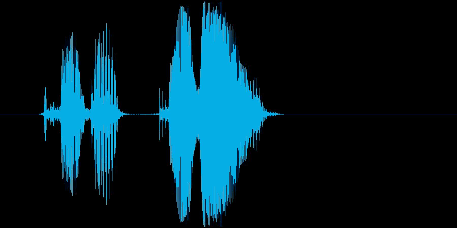 「クリクリ」の再生済みの波形