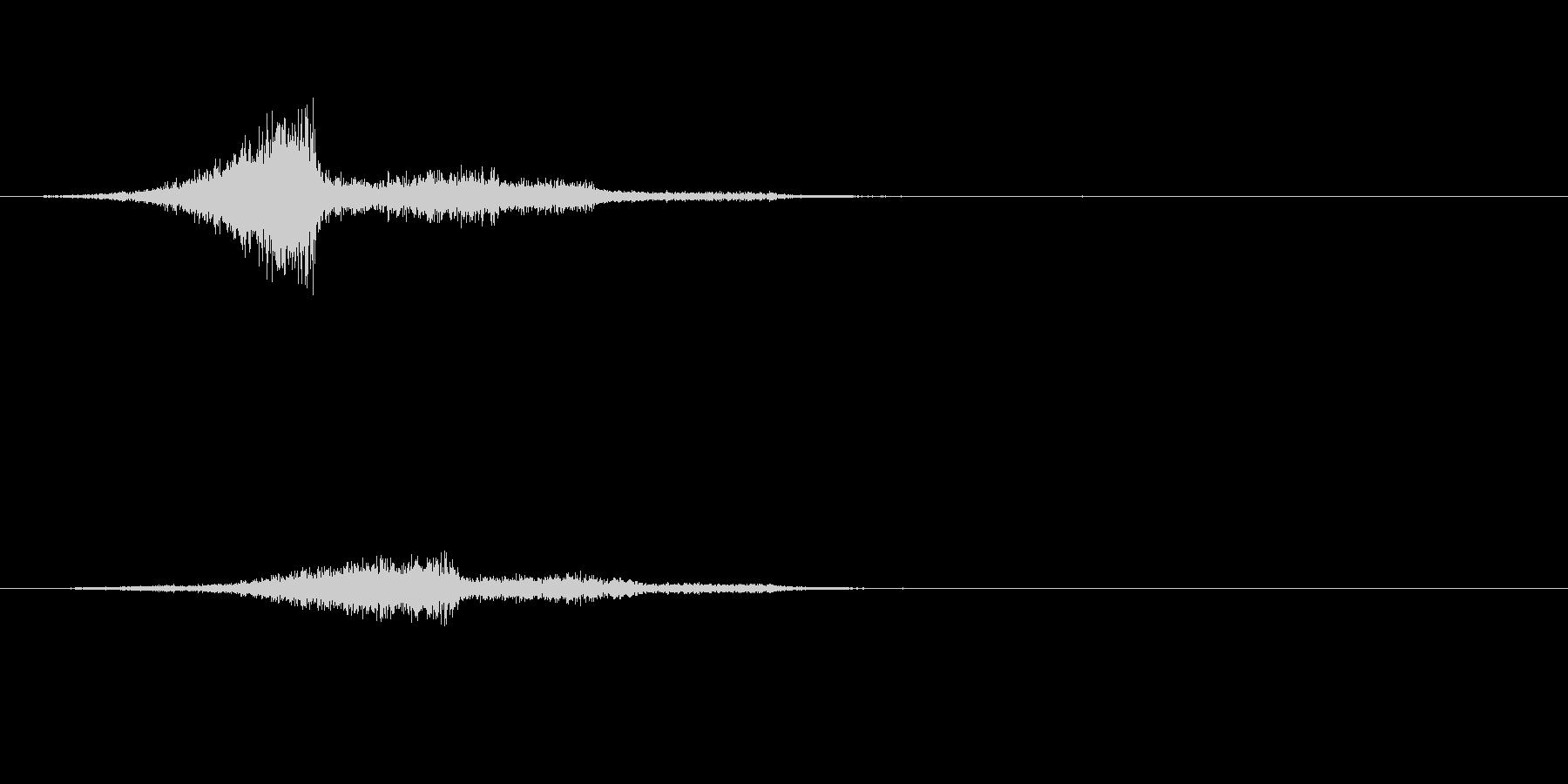 シューっと何かが通り過ぎる不気味な音の未再生の波形